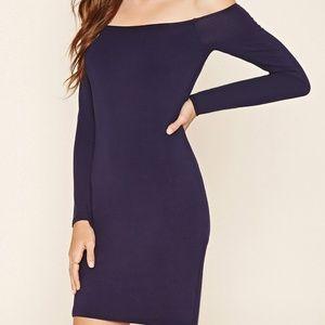 FOREVER 21 | Blue Contemporary Body Con Dress M